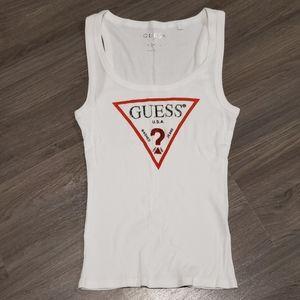 Guess Logo Ribbed Tank Top